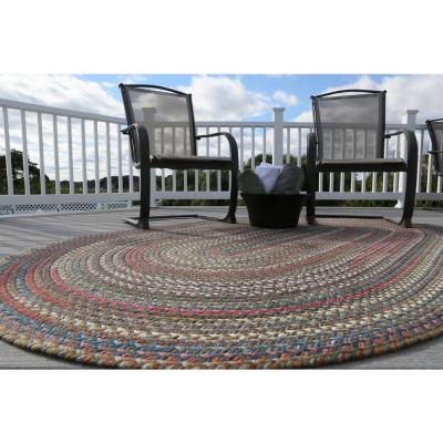 Bouquet Tawny Port 6 ft. x 6 ft. Round Indoor/Outdoor Braided Area Rug