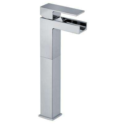 Dax Single Hole Single-Handle Waterfall Vessel Bathroom Faucet in Chrome