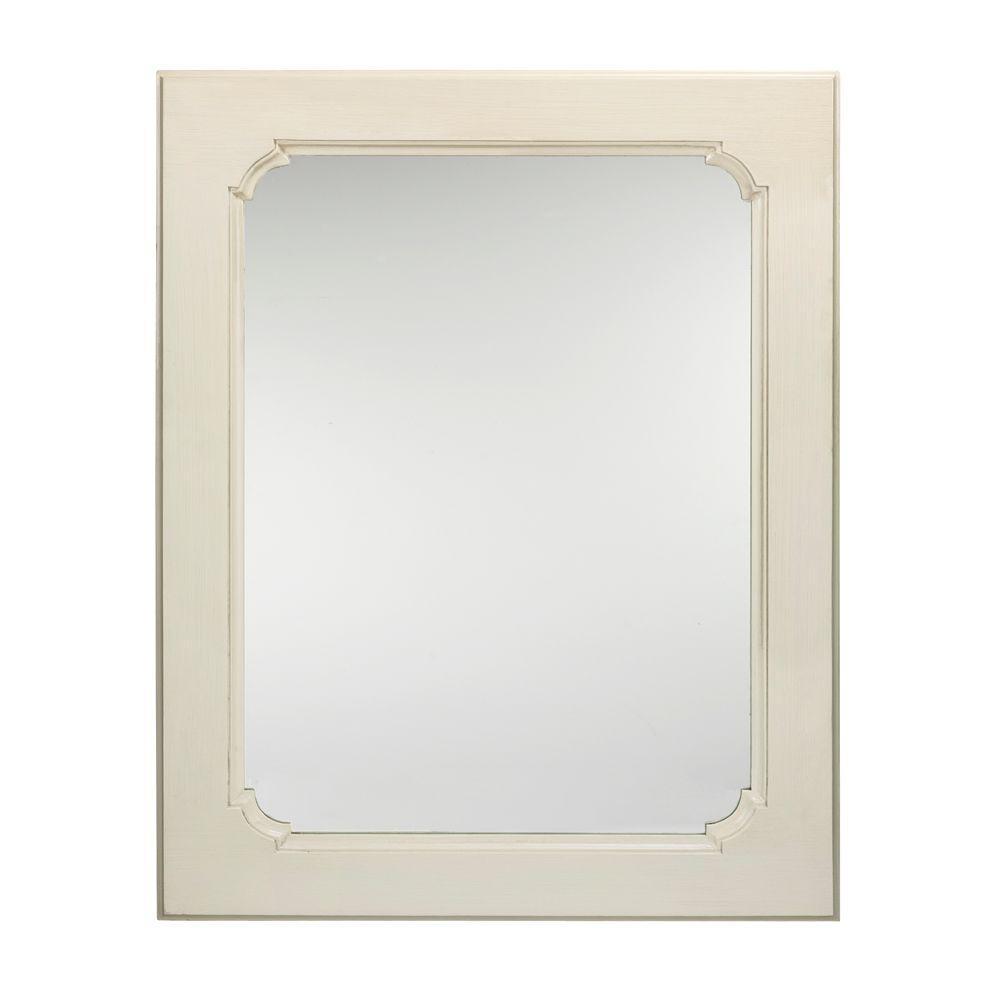 Martha Stewart Living 41 in. x 32 in. Living Ingrid Rectangular Almond Framed Mirror