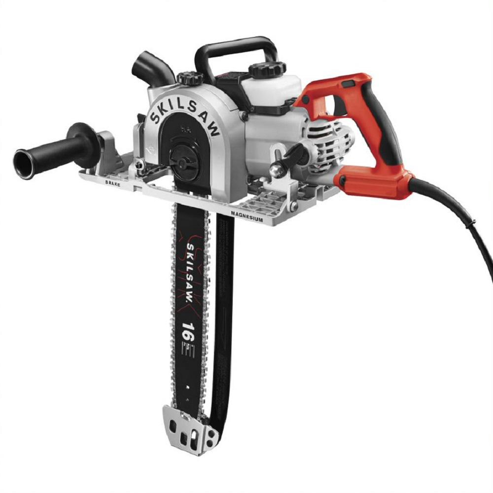 SKILSAW Sawsquatch 16 in. 15 Amp Dual-Field Electric Corded Worm Drive Carpentry Chainsaw