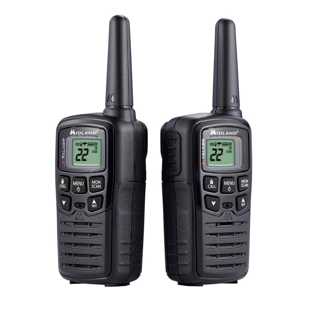 Midland X-Talker 20-Mile Range 2-Way Radios in Black by Midland