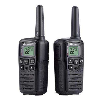 X-Talker 20-Mile Range 2-Way Radios in Black