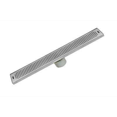 26 in. Stainless Steel Linear Shower Drain - Squares