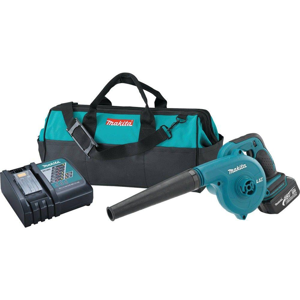 Makita 179 MPH 91 CFM 18-Volt LXT Lithium-Ion Cordless Leaf Blower Kit with (1) battery 3.0Ah, Charger, and Tool Bag