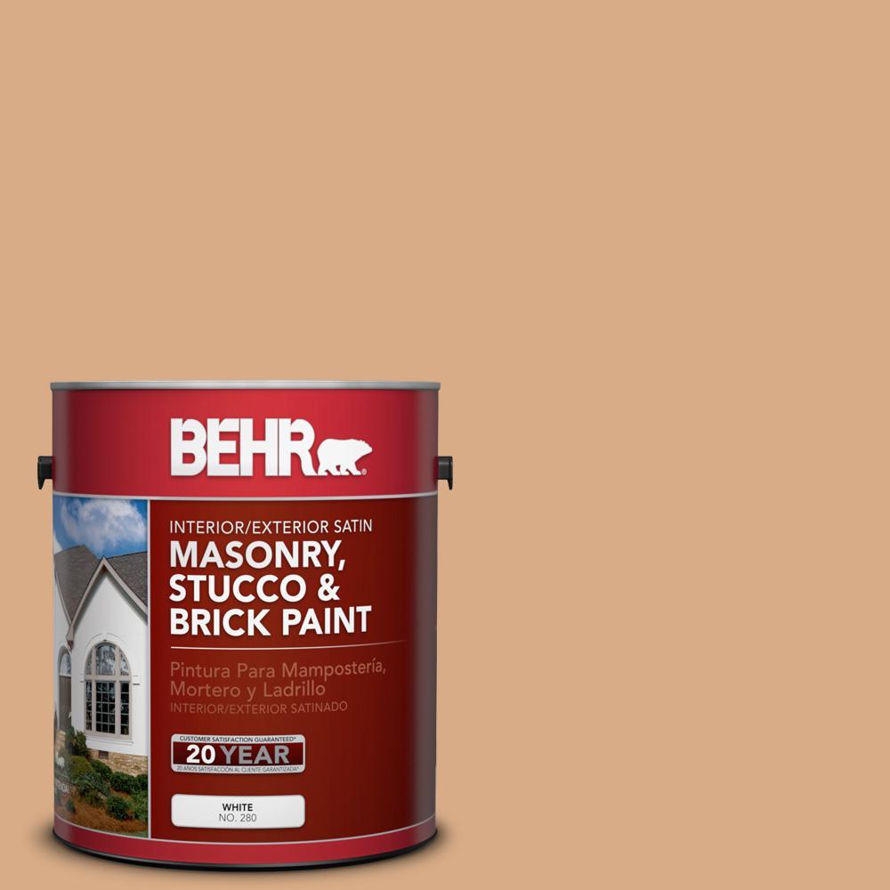 1 gal. #BXC-67 Santa Fe Tan Satin Interior/Exterior Masonry, Stucco and Brick Paint