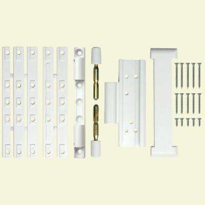 Double Bolt Slab Door White Lock