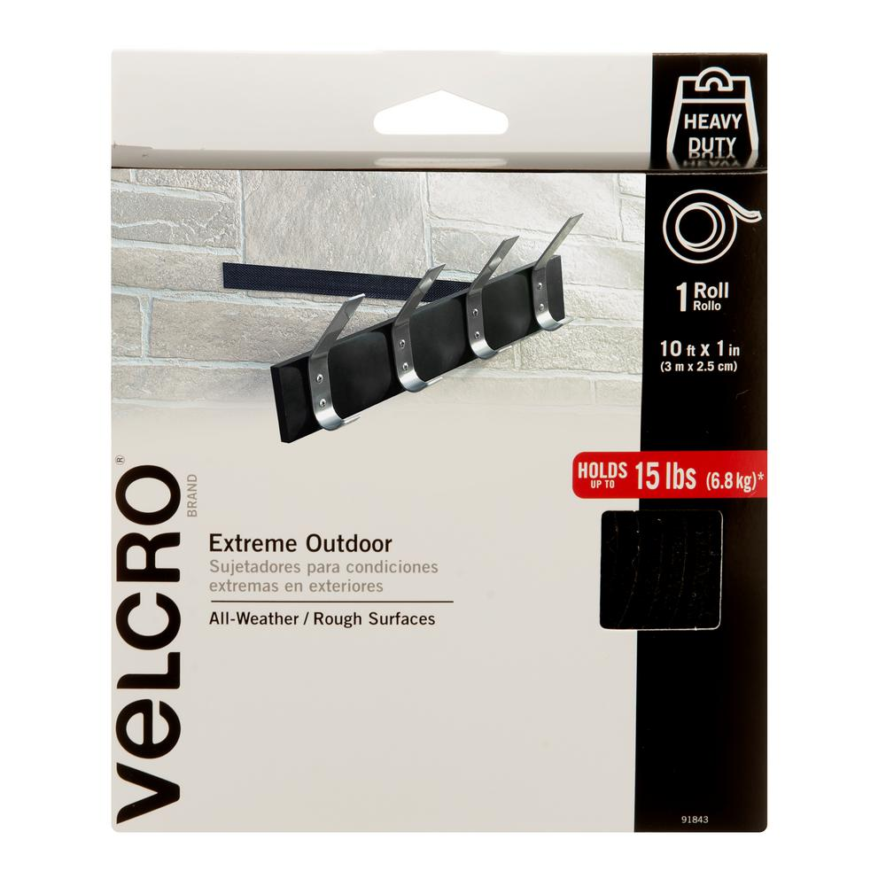 VELCRO Brand 10 ft  x 1 in  Black Industrial Strength Extreme Tape