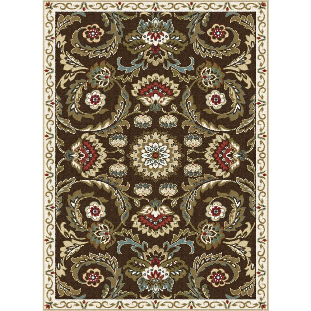 tayse rugs majesty brown 5 ft x 7 ft area rug mjs1008 5x7 the home depot. Black Bedroom Furniture Sets. Home Design Ideas