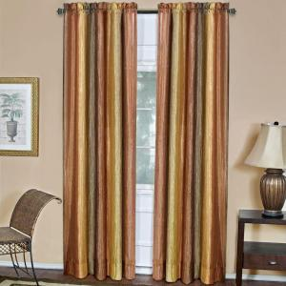 Achim Semi-Opaque Ombre 50 inch W x 84 inch L Curtain Panel in Autumn by Achim
