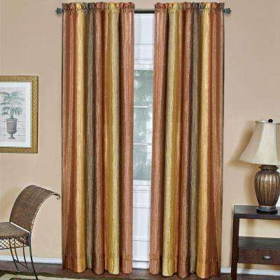 Semi-Opaque Ombre 50 in. W x 84 in. L Curtain Panel in Autumn