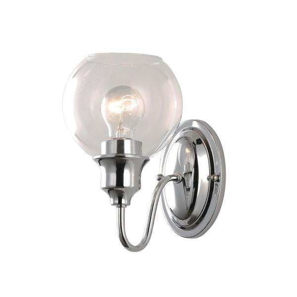 Ballord 6 in. Wide Polished Chrome Sconce
