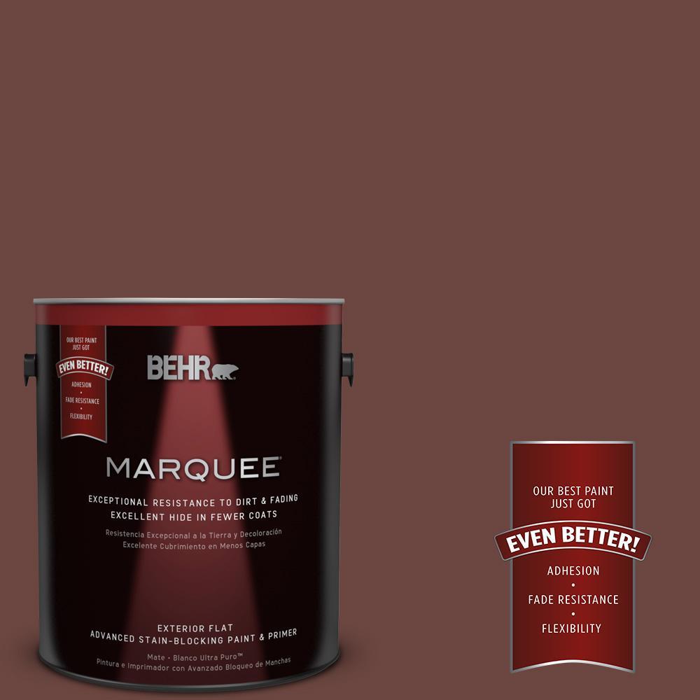 BEHR MARQUEE 1-gal. #S-G-720 Fireside Flat Exterior Paint