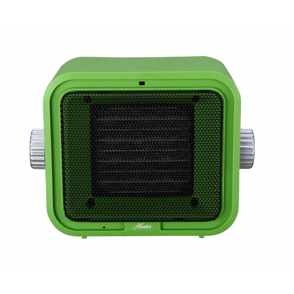 1500-Watt Ceramic Retro Electric Portable Heater - Green