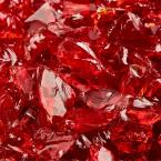 3/8 in. to 1/2 in. 10 lbs. Marlboro Red Crushed Fire Glass for Indoor and Outdoor Fire Pits or Fireplaces