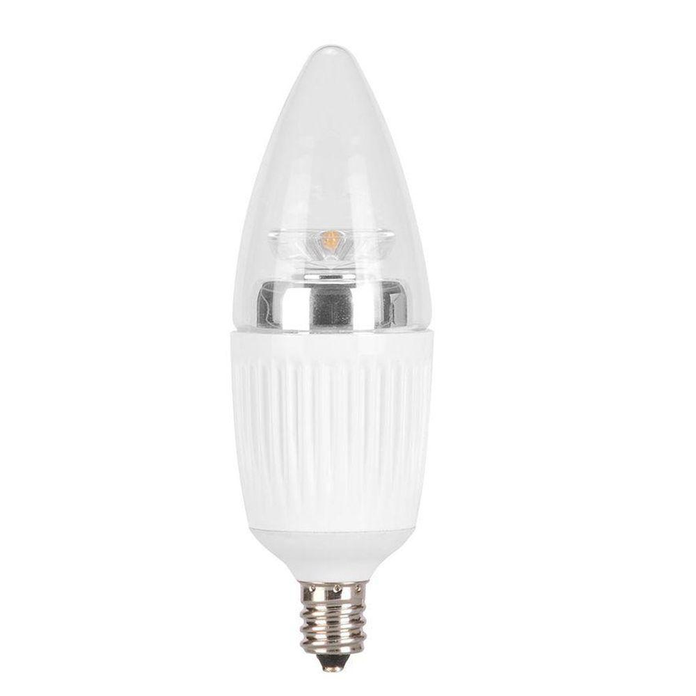 Globe Electric 25W Equivalent Soft White  B10 Type Dimmable LED Light Bulb