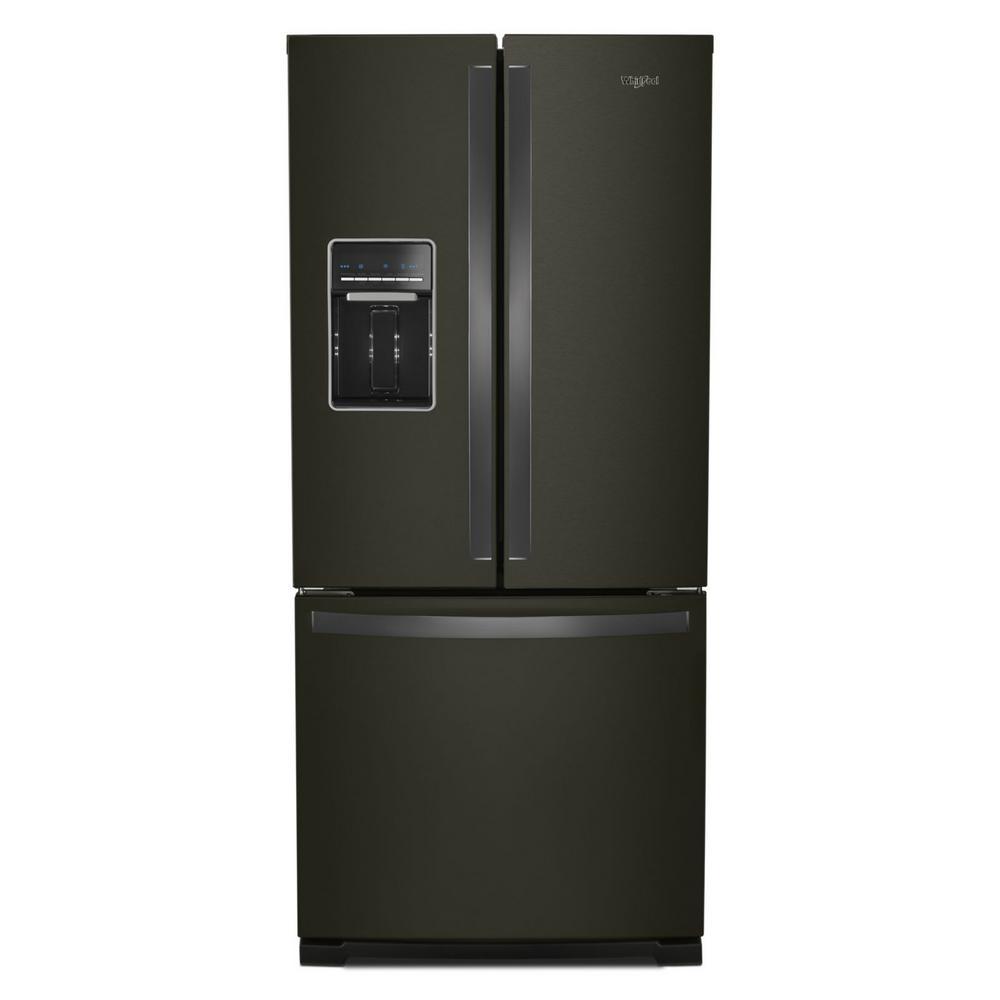 20 cu. ft. French Door Refrigerator in Fingerprint Resistant Black Stainless