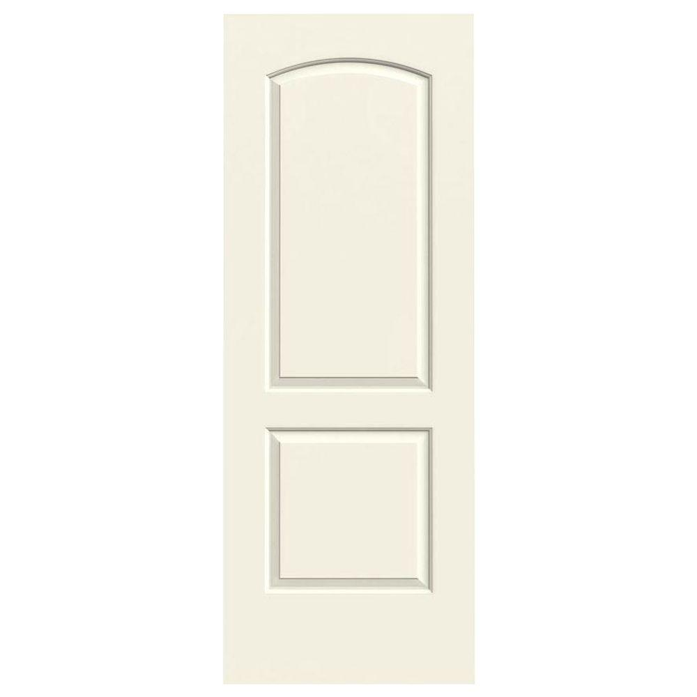 24 in. x 80 in. Continental Vanilla Painted Smooth Molded Composite