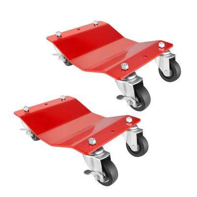 1,500 lbs. Capacity Solid Steel Commercial Grade Tire Dolly (2-Pack)