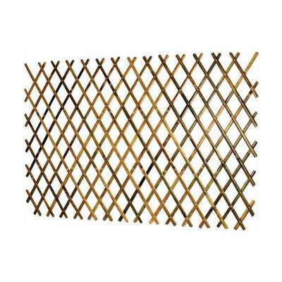 72 in. L x 36 in. H Expandable Bamboo Trellis with Aluminum Rivets