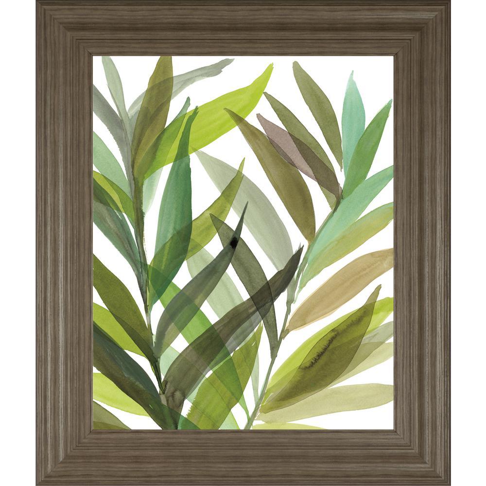 "22 in. x 26 in. ""Tropical Greens I"" by Rebecca Meyers Framed Printed Wall Art"