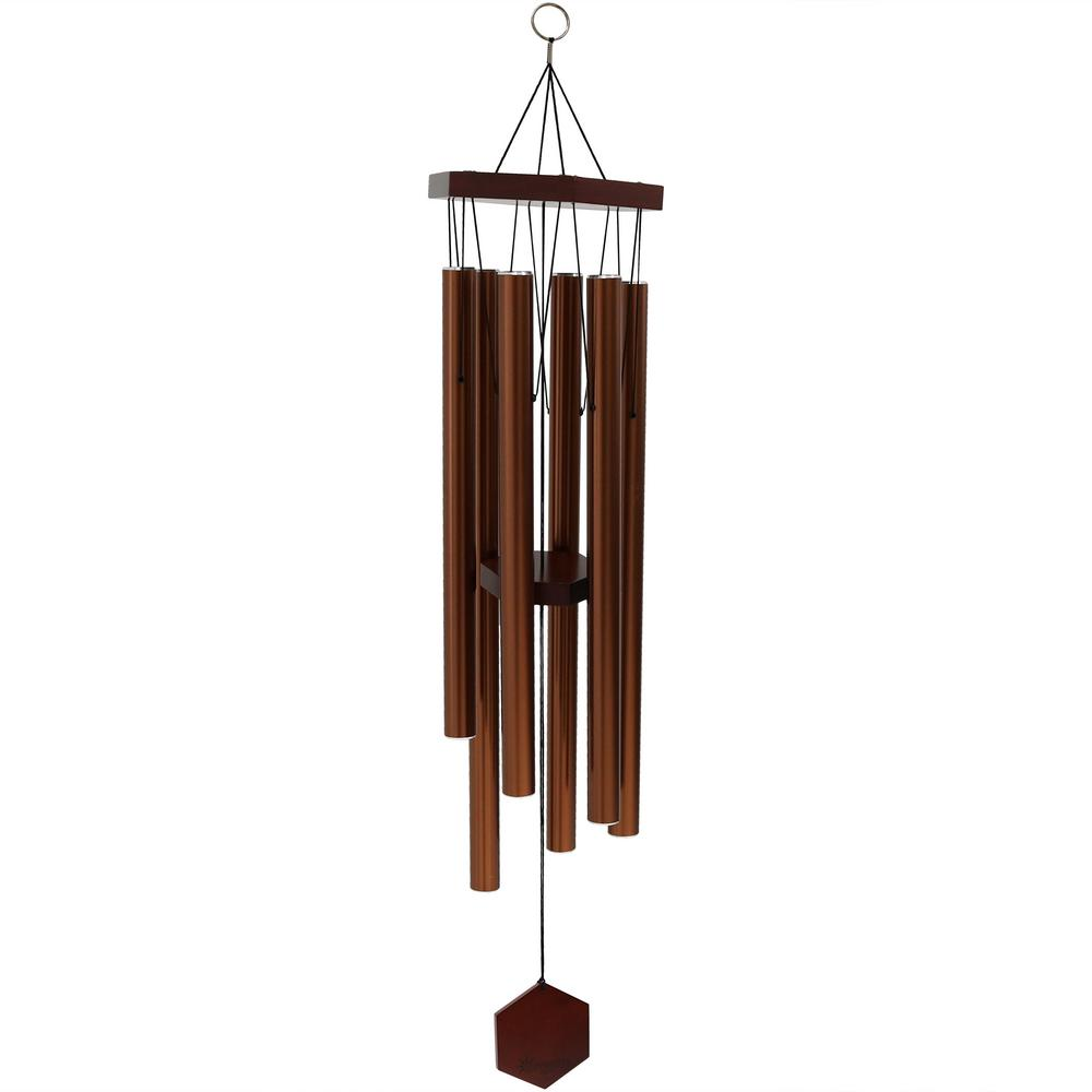 bd40688a7 Sunnydaze Decor 33 in. Copper Hand-Tuned Bamboo and Aluminum Hexagon ...