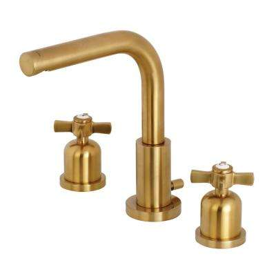 Millennium 8 in. Widespread 2-Handle High-Arc Bathroom Faucet in Brushed Brass