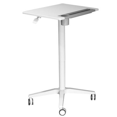 26 in. Rectangular White Standing Desk with Adjustable Height Feature