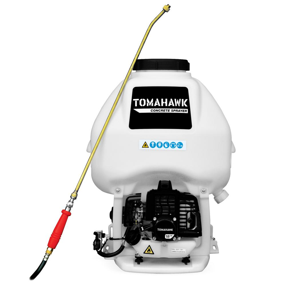 Tomahawk Power 6 5 Gal Backpack Concrete Sprayer With 1 8 Hp Engine Wand Attachment And 0 5 Gpm Fan Nozzle For Concrete Finishing Tcs6 5 The Home Depot