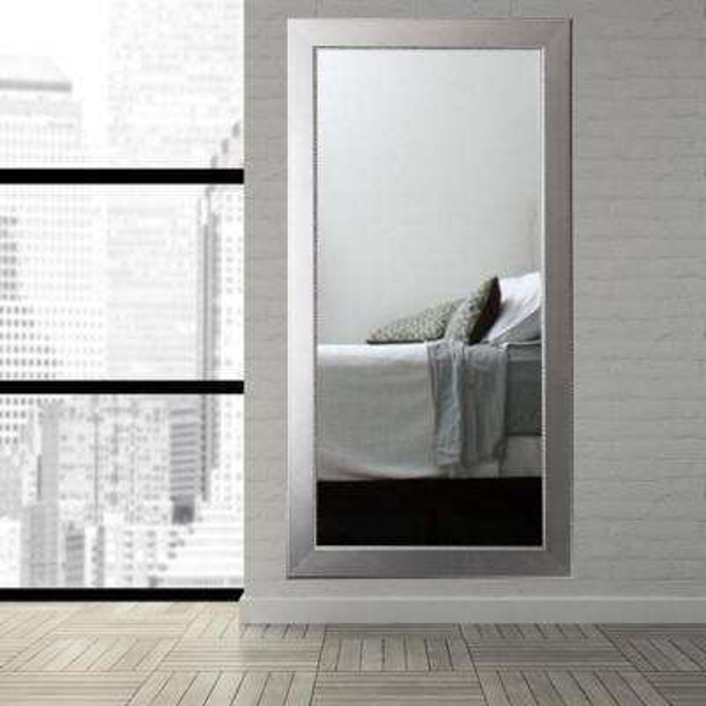 Mod Euro Silver Tall Framed Mirror
