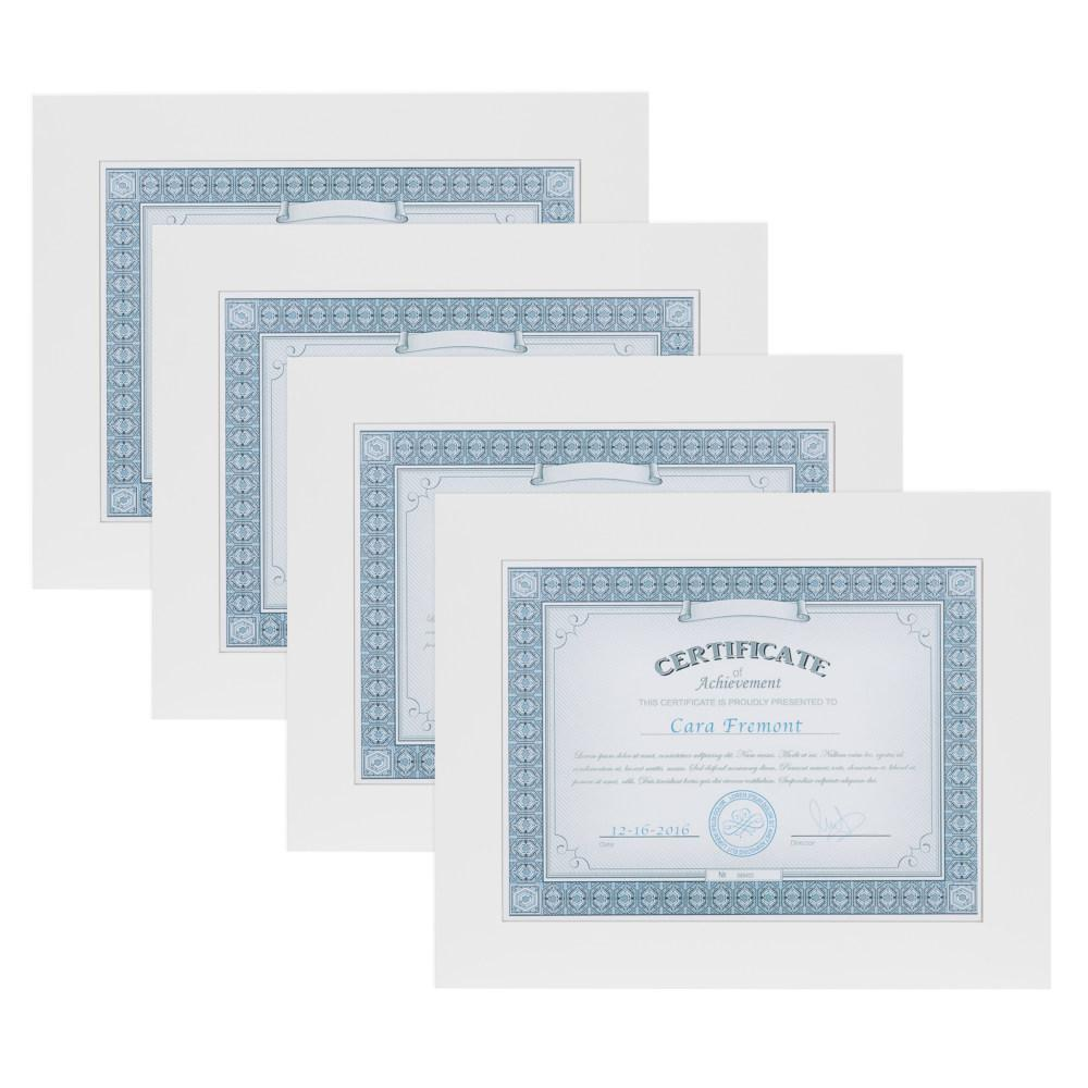 DesignOvation Museum 8.5 in. x 11 White Picture Frame (Set of 4 ...