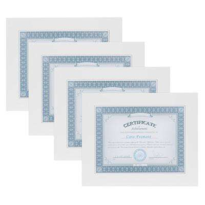 Museum 8.5 in. x 11 White Picture Frame (Set of 4)