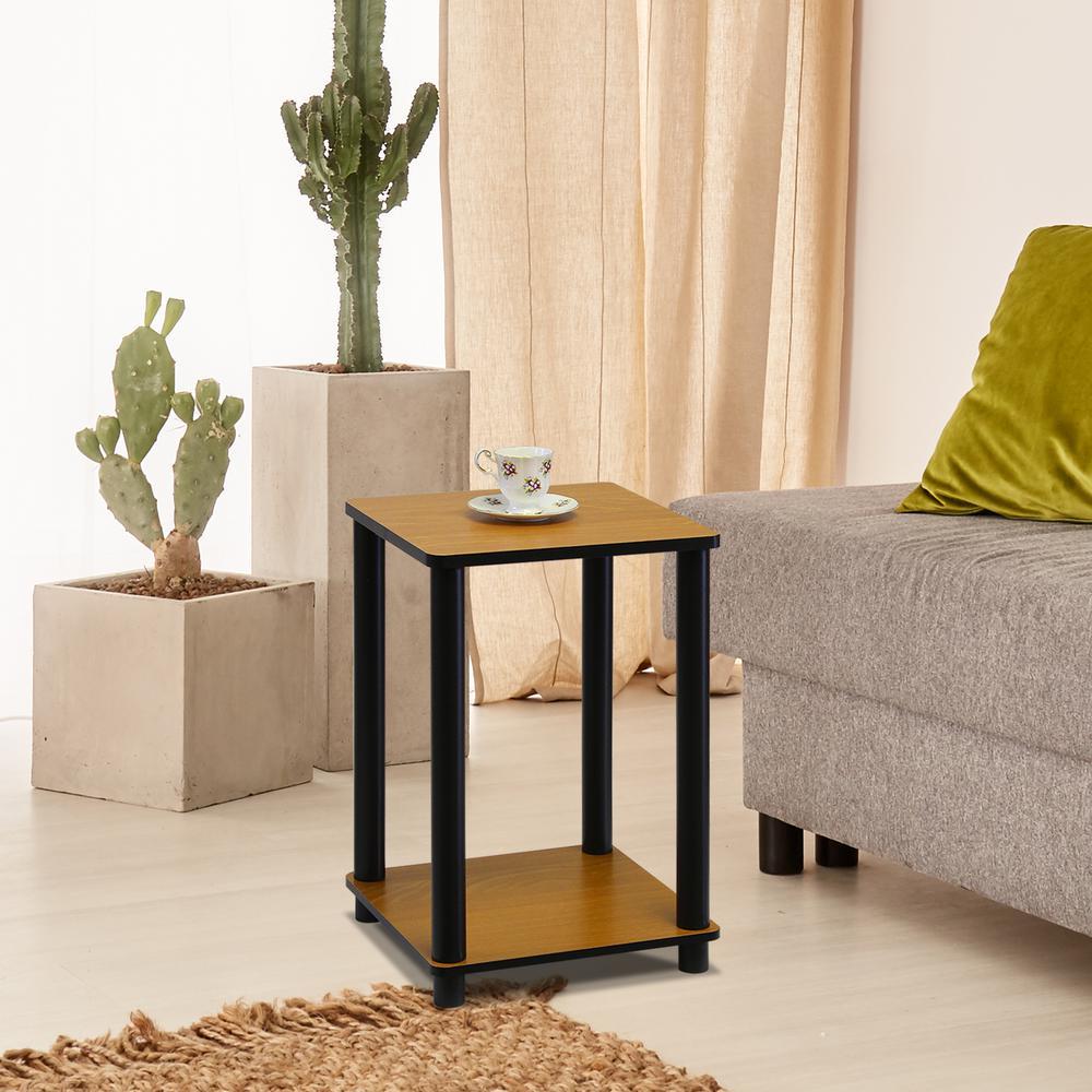 Furinno Turn N Light Cherry Simple End Table 2 Set