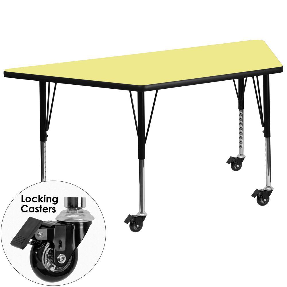 Flash Furniture Yellow Kids Table XUA3060TRPYLTPC