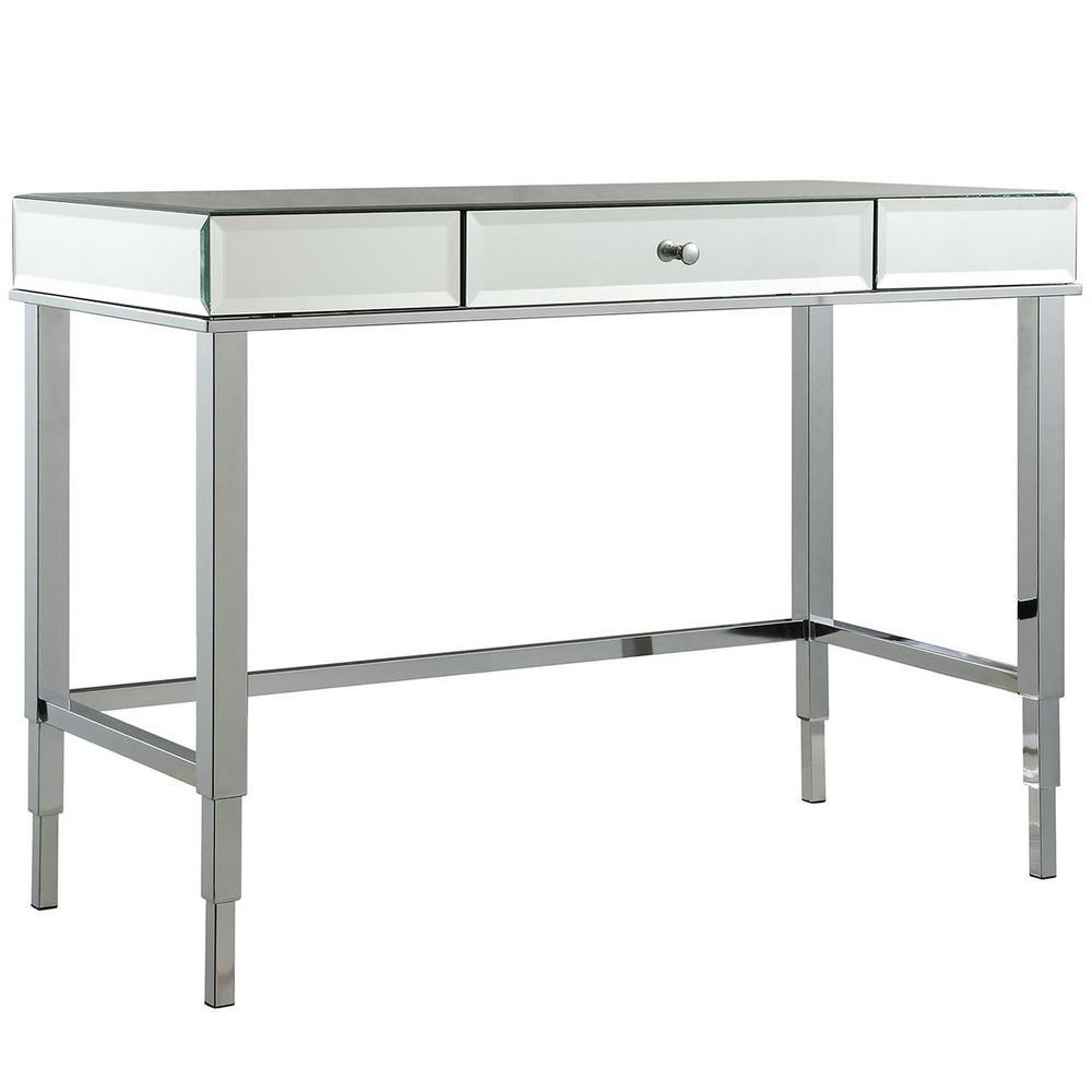 HomeSullivan Cecilia Chrome Desk 40E423-15CO3A