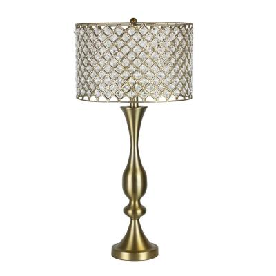 27.5 in. Gold Plated Table Lamp with Crystal Bling Shade