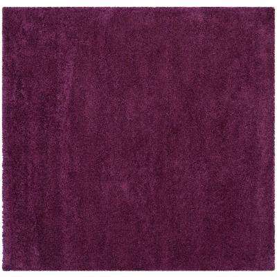 Santa Monica Shag Purple 6 ft. 7 in. x 6 ft. 7 in. Square Area Rug