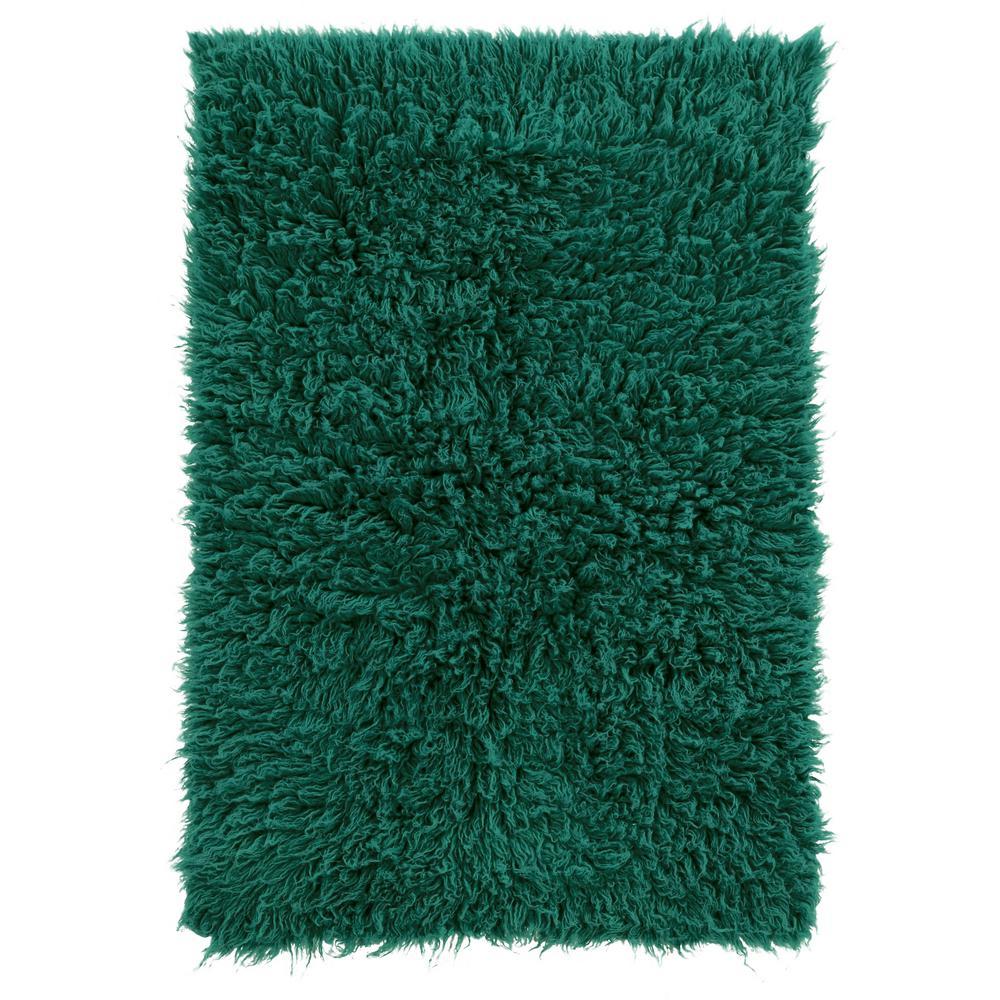New Flokati Emerald Green 5 ft. x 8 ft. Area Rug