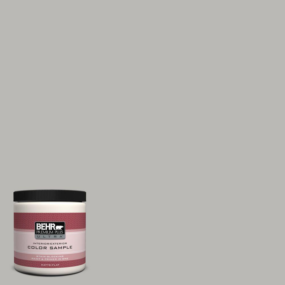 8 oz. #PPU18-11 Classic Silver Matte Interior/Exterior Paint and Primer in