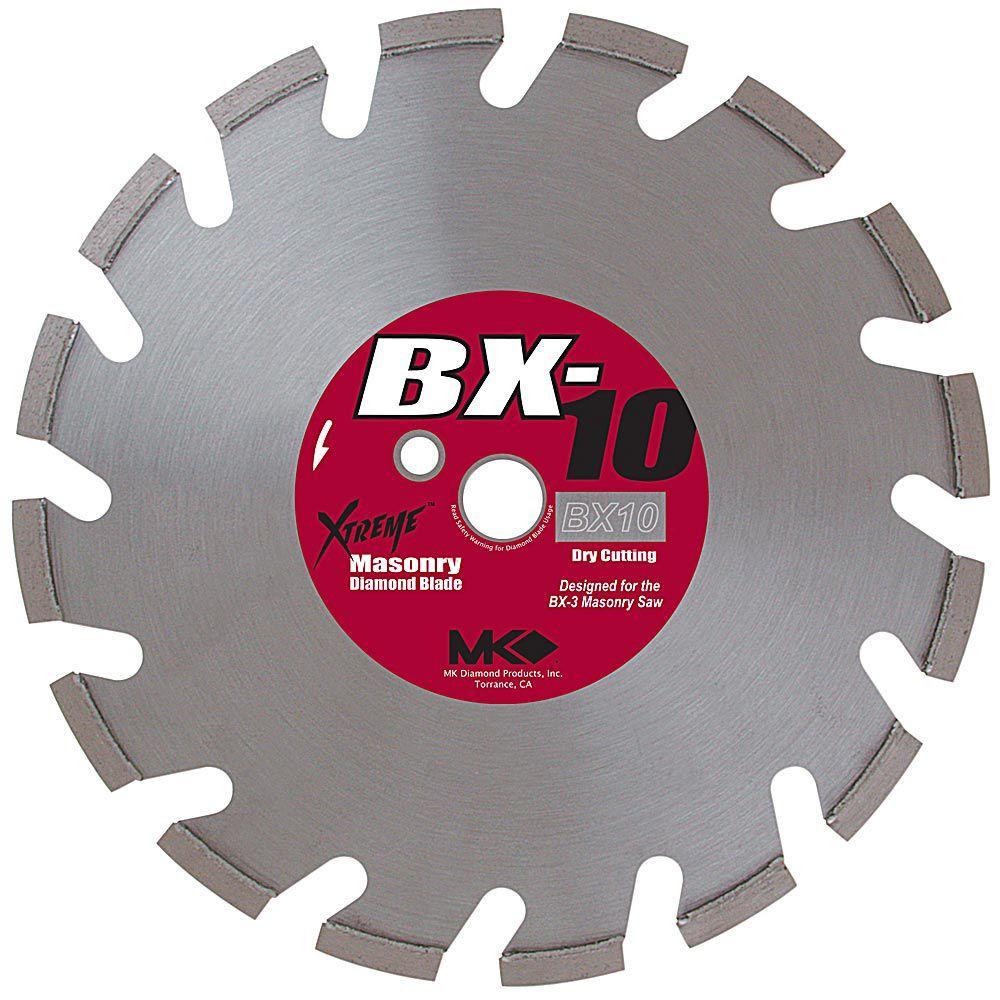 MK Diamond 14 in  Segmented Rim Dry Cutting Diamond Saw Blade for Masonry  Material