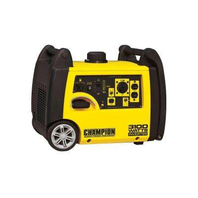 3,100-Watt Gasoline Powered Recoil Start Portable Inverter Generator