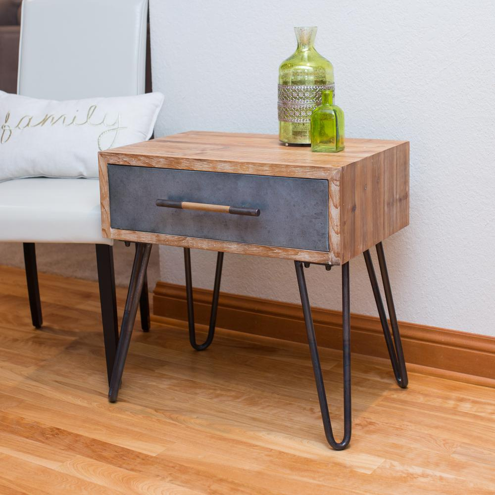 Attrayant FirsTime Vaughn Galvanized Metal Hairpin Table