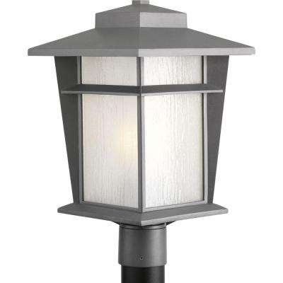Loyal Collection 1-Light Textured Graphite Fluorescent Outdoor Post Lantern