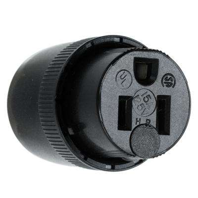 15-Amp 125-Volt Connector - Black