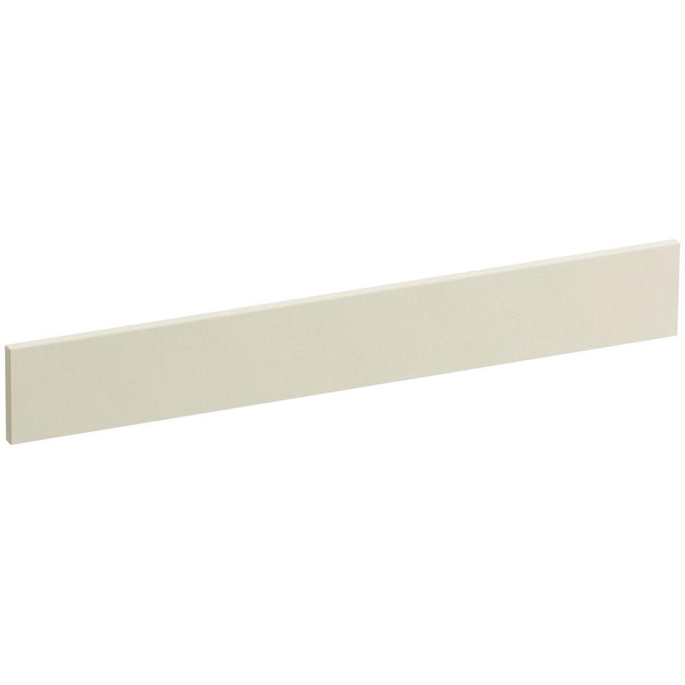 Solid/Expressions 25 in. Solid Surface Vanity Backsplash in Almond Expressions