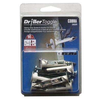 1/8 in. x 2 in. Zinc-Plated Driller Toggles (6-Pack)