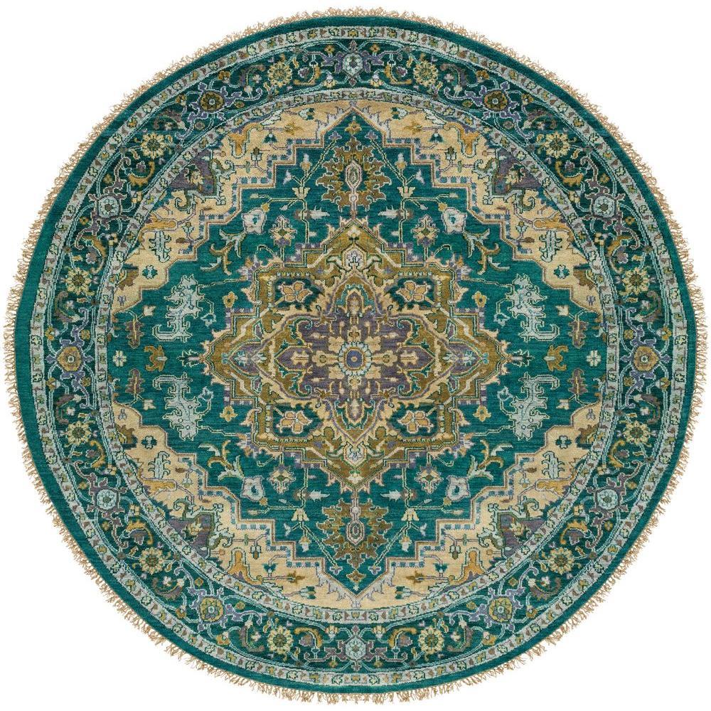 Strozzi Emerald 8 ft. x 8 ft. Round Indoor Area Rug