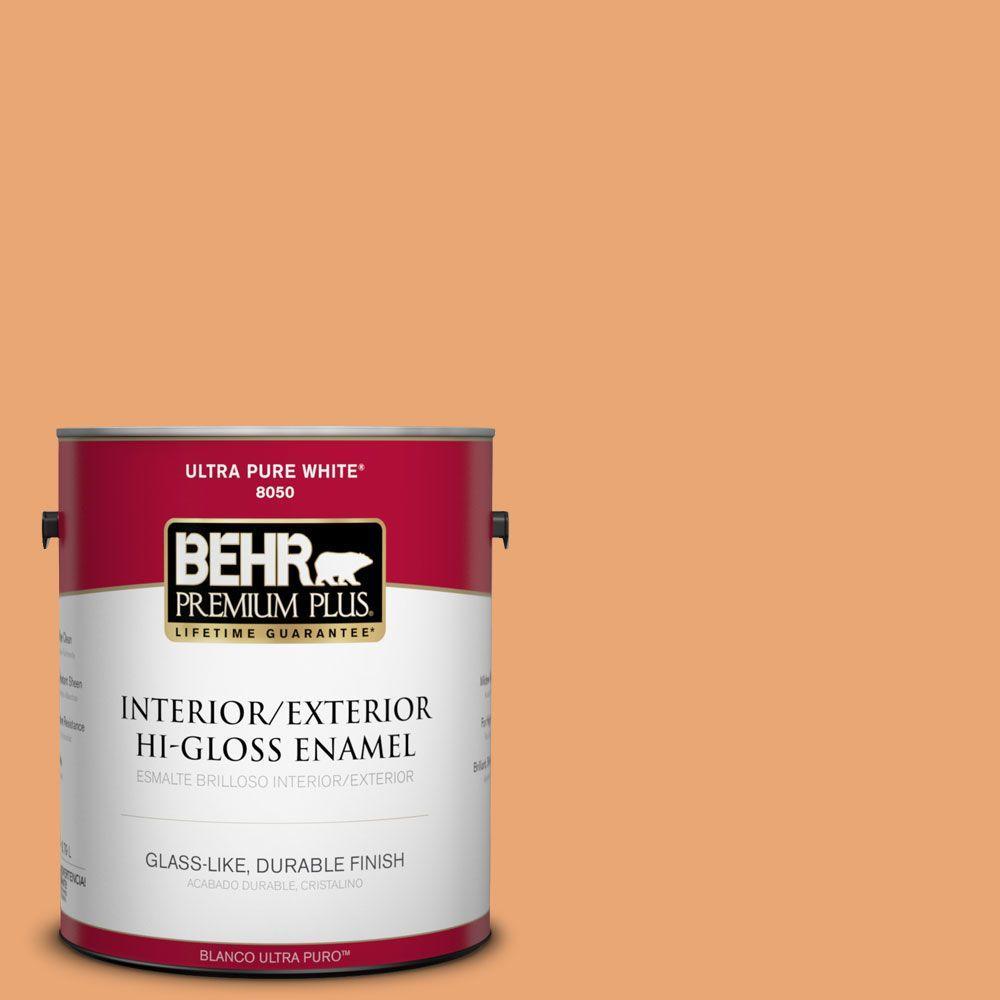 1-gal. #M230-5 Sweet Curry Hi-Gloss Enamel Interior/Exterior Paint