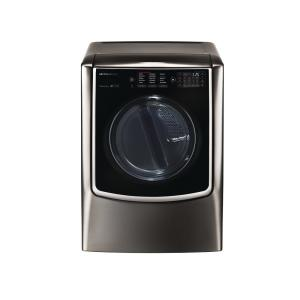 9.0 cu. ft. Smart Electric Dryer with Turbo Steam and WiFi Enabled in Black Stainless Steel