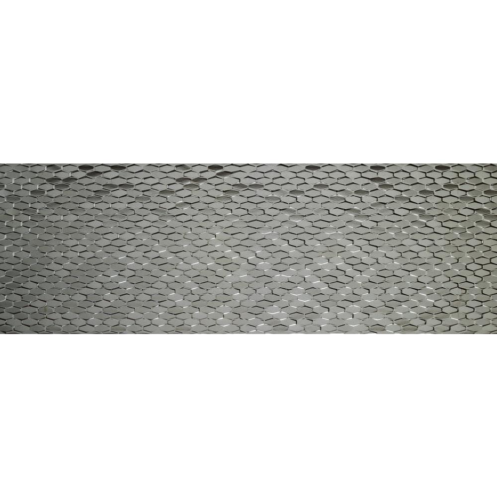 Artwork Silver Glossy 11.81 in. x 35.43 in. Ceramic Wall Tile (11.63 sq. ft. / case)