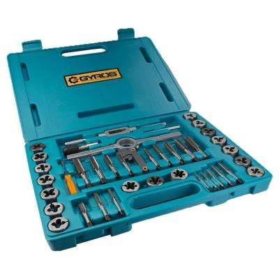 High Speed Metric Size Steel Tap and Die Set (40-Piece)